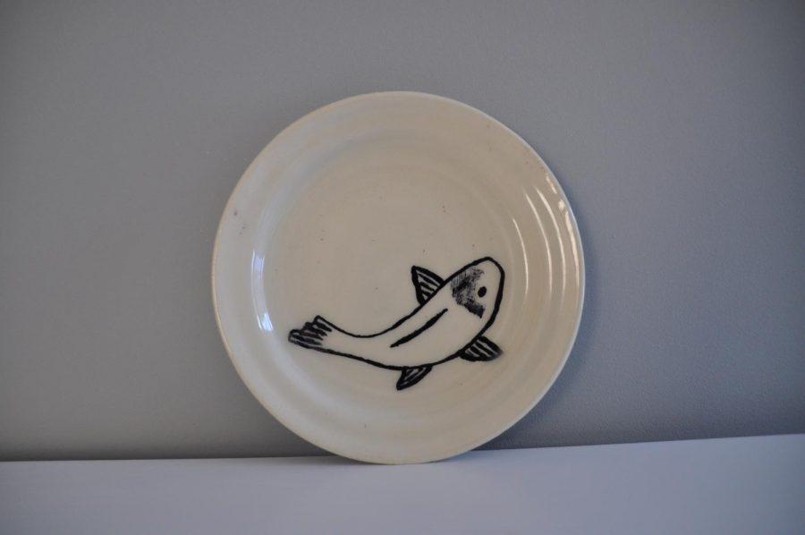 Koi Plate by Elke Thielen '18