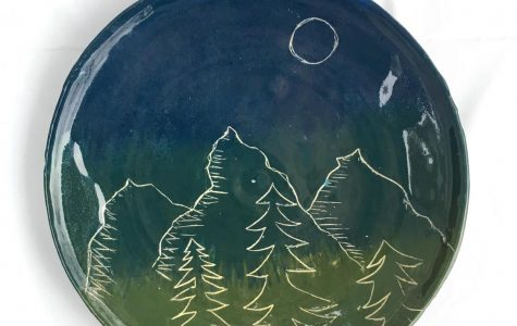 Ombre Mountain Plate by Meagan Steck '19