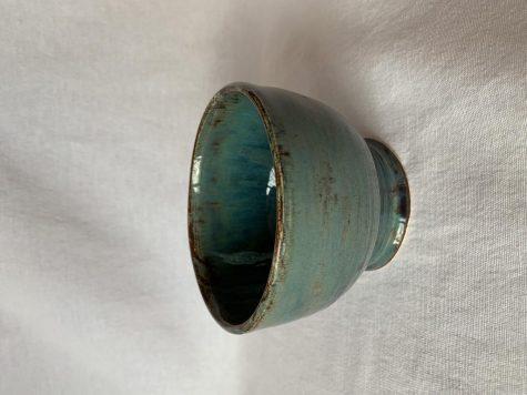 Cyan glazed bowl by Meagan Steck 19
